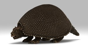 3D glyptodon extinct ice model