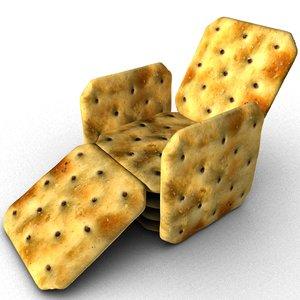 crackers 3D model