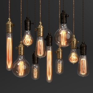 blender set edison vintage 3D model
