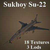 low-poly sukhoi 3D model