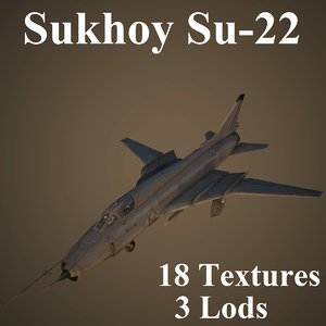 low-poly sukhoi 3D model