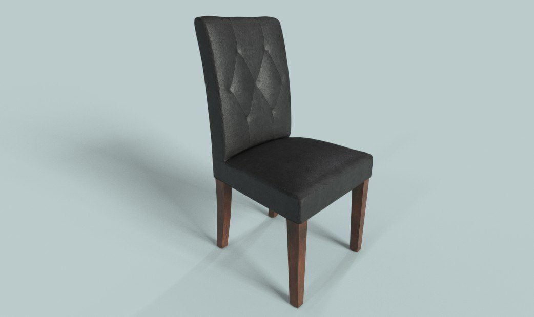 3D pbr chair leather furniture