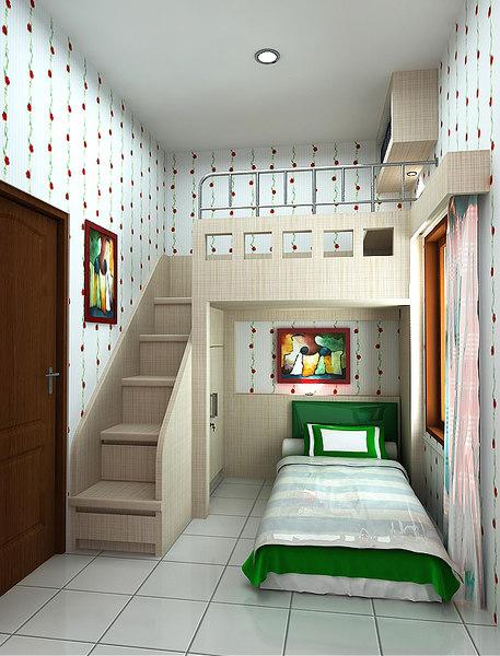 3D children s bedrooms