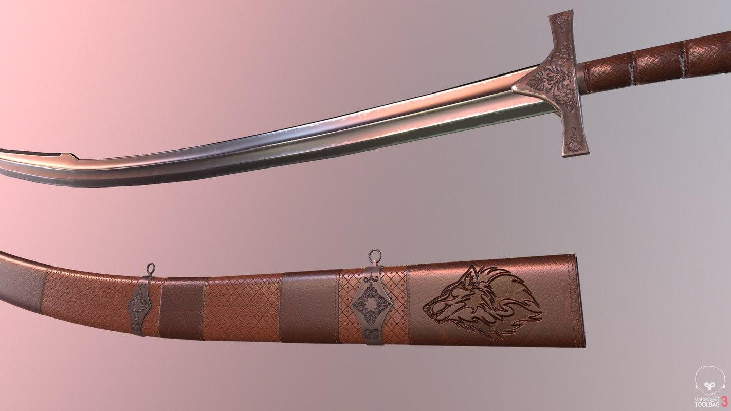 ottoman sword kilij 3D model