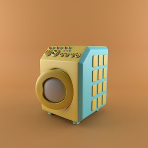 3D cartoon washing model