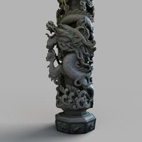 3D dragon column