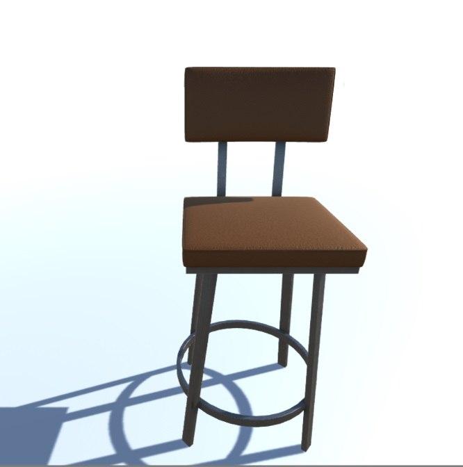 bar stool pbr 3 3D model