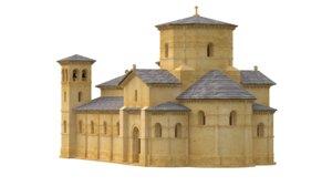3D romanesque church model