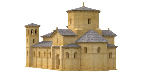 3D romanesque church model
