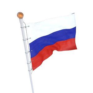 flag russia 3D