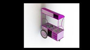 3D cotton candy model