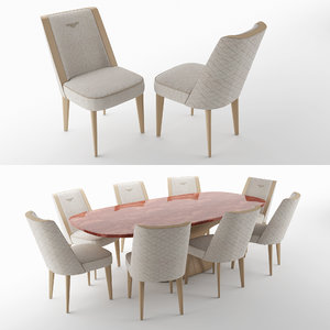 stamford chairs alston table 3D model