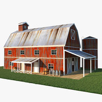 old red barn 3D