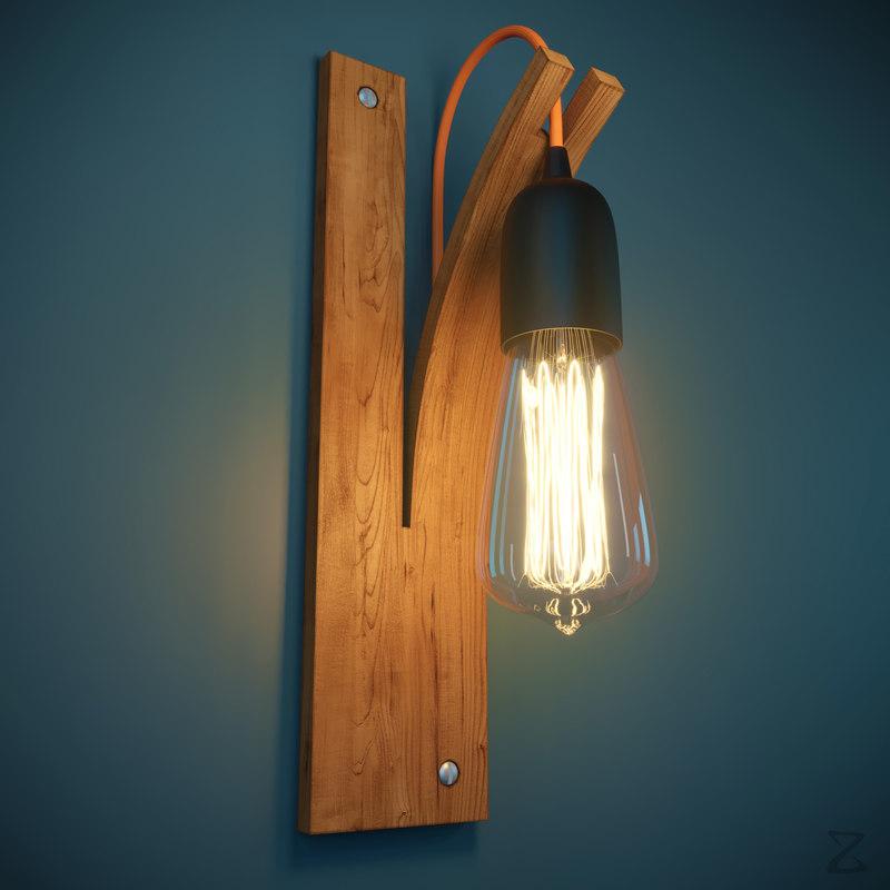 wall light 3D