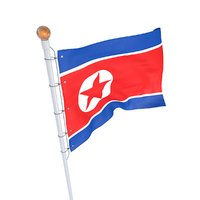 North Korean Flag animated