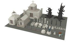 3D assets fantasy mobile model