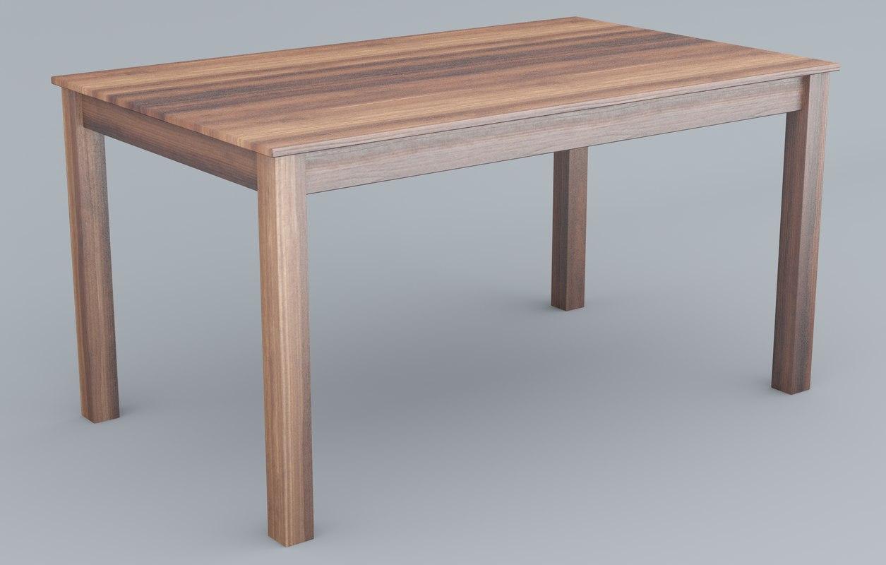 3D wooden table model