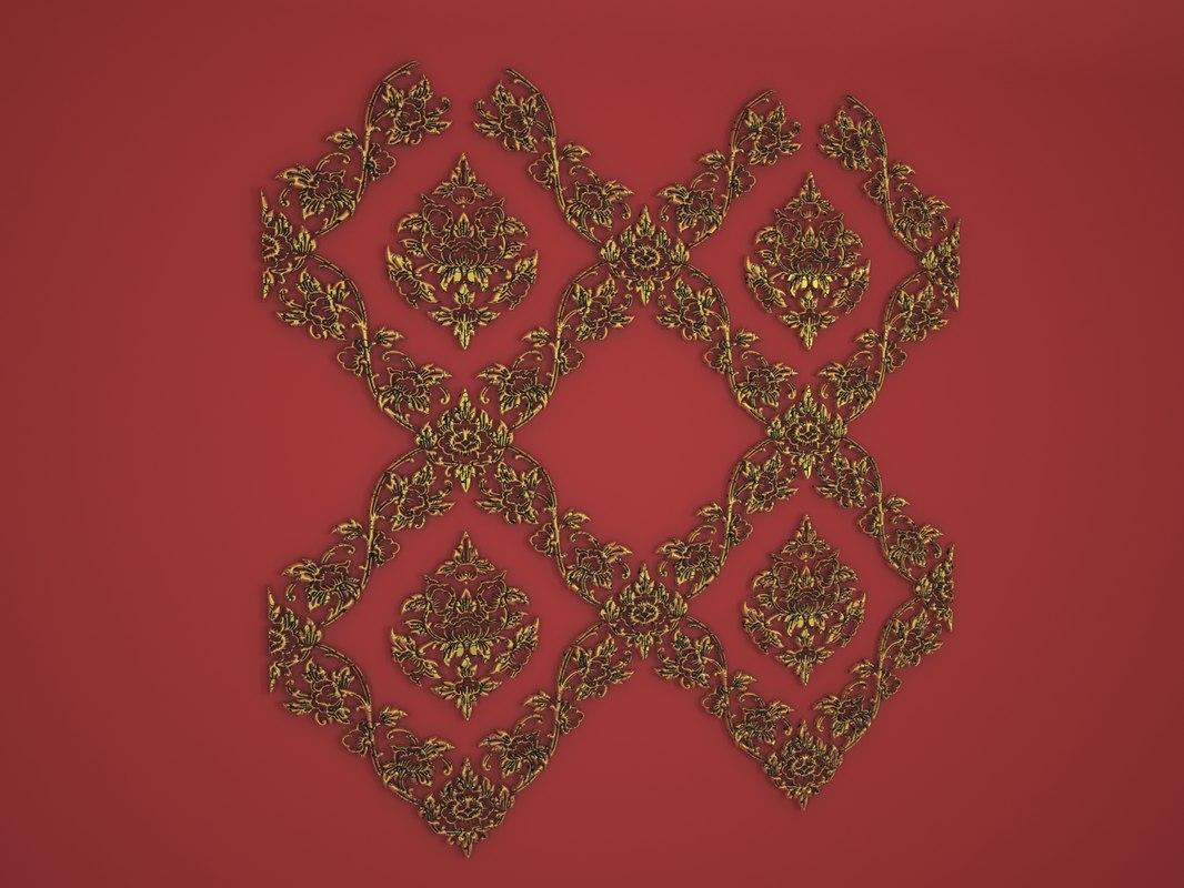 pattern thai tile model