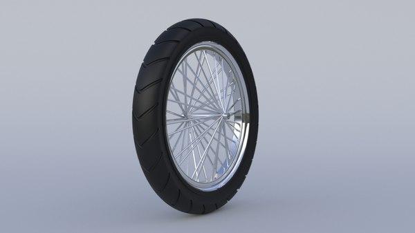 3D motorcycle wheel model