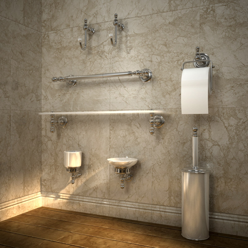 bathroom accessories 3D