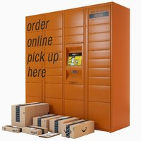 amazon parcels locker 3D model