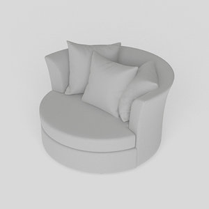 3D cuddler chair model