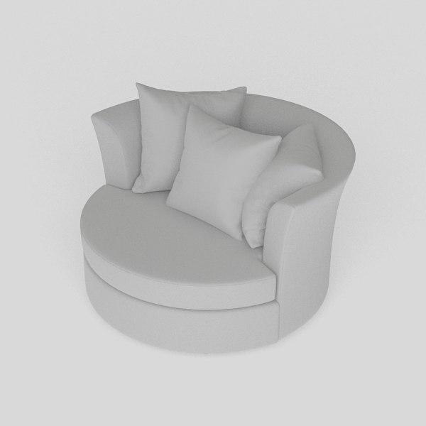 3D cuddler chair model