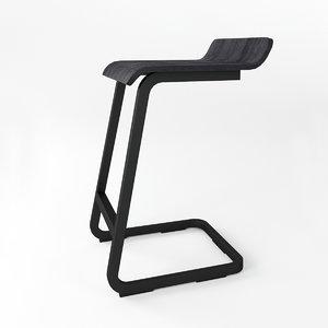 alto stool 3D model