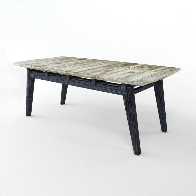 3D table db004140 model