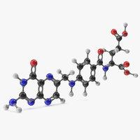 3D folic acid molecular