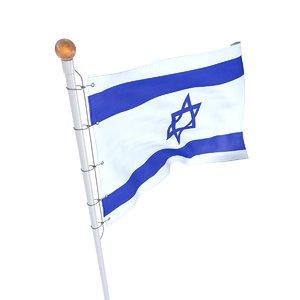 3D israel flag