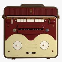 vintage 50s bobbin tape recorder 3D
