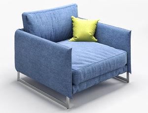 armchair saba livingston 3D model