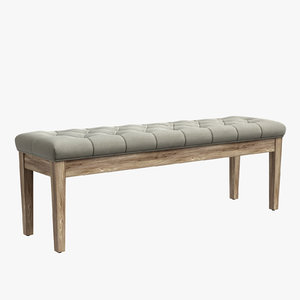 tufted bench 3D