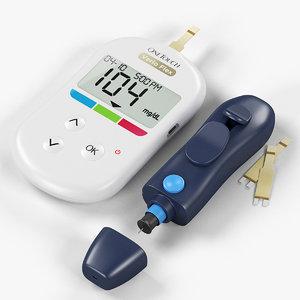 3D glucose meter