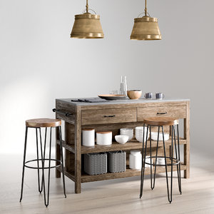 kitchen island 1 3D model