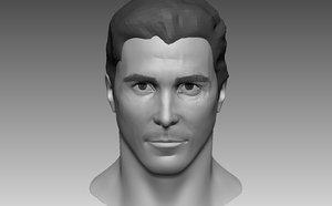 3D head base mesh male