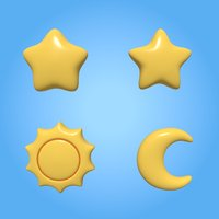 Stars and moon icons