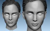 Head Base Mesh Female 3D model 3D model