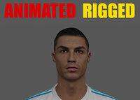 Cristiano Ronaldo Animated Rigged