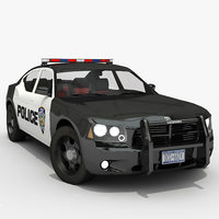 3D police car