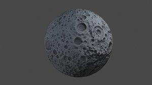 cartoon moon 3D
