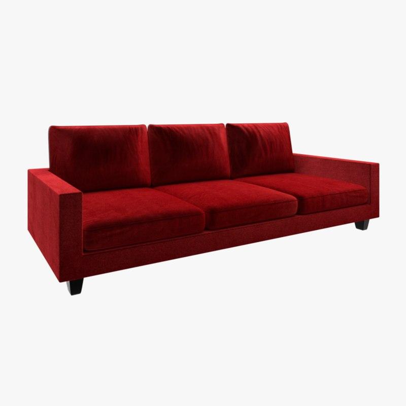 3D sofa velvet model