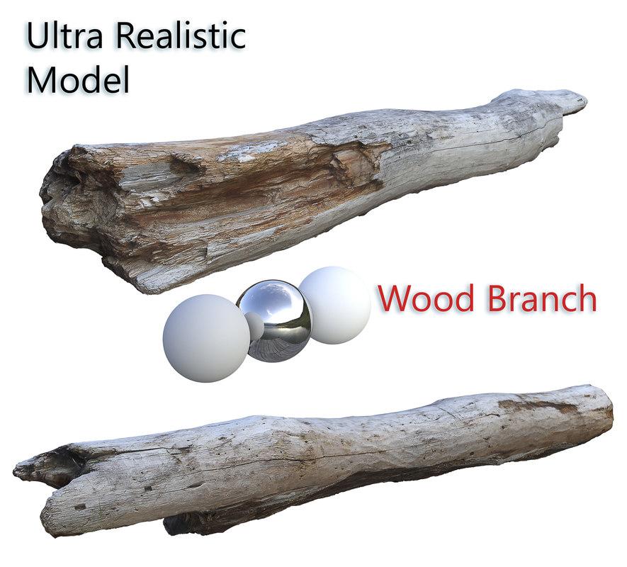 wood branch scan 3D model