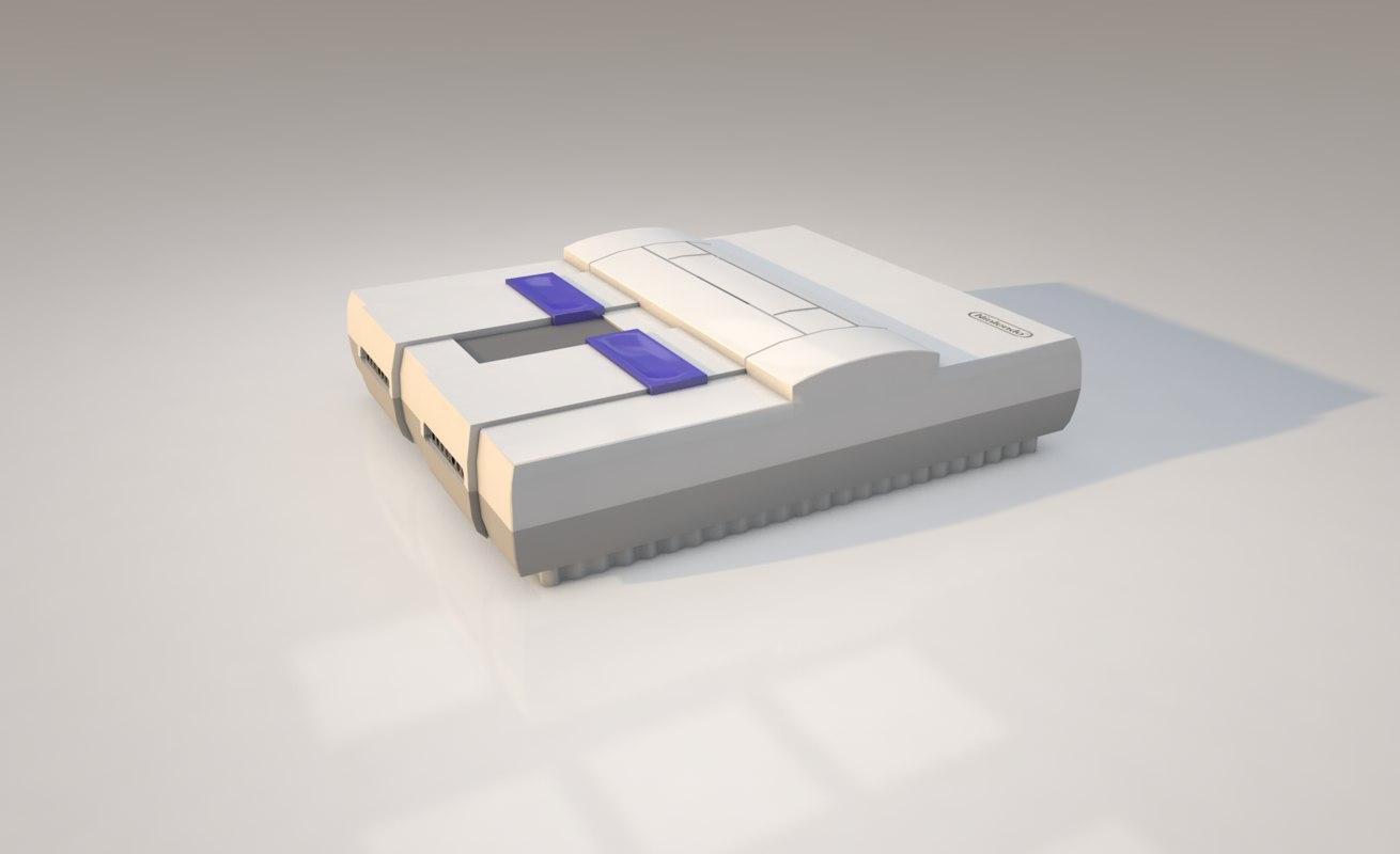 3D super nintendo model