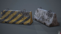 Roadblock Low Poly Prop With Lod