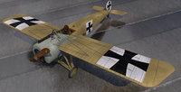 3D model plane fokker e iii