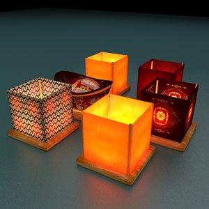chinese lantern water 3D model