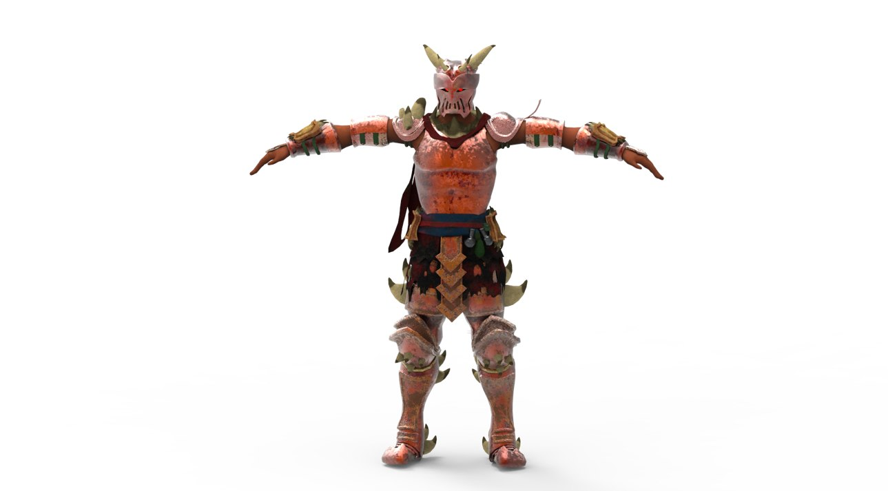 3D model dragon knight