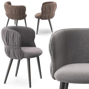 3D potocco coulisse armchair model